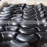 carbon steel seamless elbow&45&90D BUTT WELD pipe fittings&bend black painting