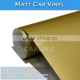 Removable 1.52x30M Matt Gold Decal Paper Finished Car Wrap Matte Stickers