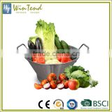 Kitchen strainer basket vegetable fruit stainless steel colander                                                                                                         Supplier's Choice