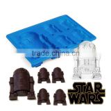 Chocolate Cookies Baking Mould diy Tool Siliconea R2-D2 Cocktails Ice Cube Mold Tray Bar Party Drink SQ150