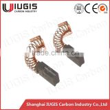 6.3*14*17.3mm Slotted Carbon Brush with spring For Tools Parts