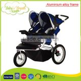 BS-42B aluminium alloy frame material junior baby swing stroller double with shock absorber