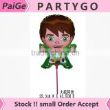 New arrival 14.5inch ben 10 balloon sticks and cup mylar balloons for birthday party decorations kids toys