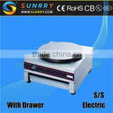Electric crepe maker with single square head and 400 mm diameter crepe maker machine for pancake (SUNRRY SY-CG1)
