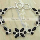 Gemstone Jewelry & .925 Sterling Silver Jewelry Black Onyx Bracelet Necklace Wholesale