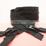 Double Head Plastic Zipper for Jacket