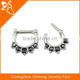 Tribal Septum Ring Jewelry, Septum Piercing Septum Cuff with Back Zircon, Fashion Indian Nose Ring