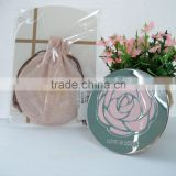 Personalised mirror, rose printing mirror, surface round cosmetic mirror, purse mirror manufacturer