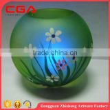 Hand painted glass candle holder with LED light,handicrafts and decorations                                                                         Quality Choice