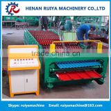 Professional corrugation color glazed steel roof making machine / wall tile roll forming machine