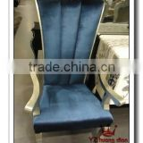wood, fabric, leather and other different material available dining chair specific use blue fabric dining chairs