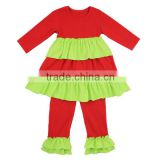 Newborn baby christmas outfits Christmas ruffle dress outfit baby clothes santa