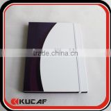 Hardcover four lined paper line notebook