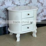 French style nightstand modern white lacquer bedroom cupboards design oval living room cabinet wooden furniture