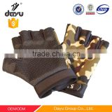 Free sample as gift mens Camouflage sports gloves half fingers cycling gloves after you bought wool jacket or down jacket