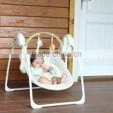 Plastic Electric Swinging baby crib with mosquito net