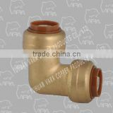 250-34 ornamental brass fitting (PUSH FITTING BRASS ELBOW 90 (PUSH X FPT))