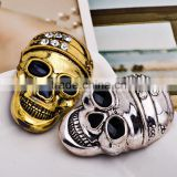 47*30mm New Fashion Wholesale Large Crystal Skull Men's Brooch