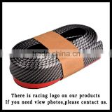 Universal racing car 2.5m front lip skirt protector / car front bumper lip strip with carbon fiber look for exterior