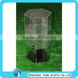 factory direct sale perspex display cases for shoes jewelry exhibition, clear display case acrylic tiers display stand with base