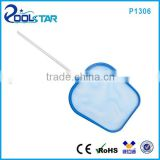 Leaf Skimmer Rake Net with 48 inch Telescopic Aluminum Pole for Samll Pool Spa Fountain Pond Hot Tub