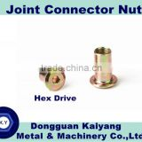 M6, M8, M10 / Bright(White)/ Blue/ Yellow Zinc Plated; Joint Connector ; Furniture Hardware
