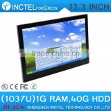 13.3 Inch All-in-One POS Industrial 4-wire Resistive Touch Screen Computer 1280*800 1G RAM 40G HDD linux Install