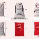 small order accepted Christmas gift canvas bags China factory high quality cheap santa sack wholesale santa sacks