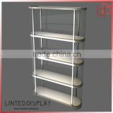 Customized wooden glass bread chocolate display showcase rack shelf counter cabinet for bakery
