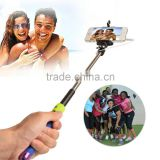 3.5mm Plug-and-play Wired Selfie Monopod W/ Adjustable Clip Clamp For iOS/Android Phones-No Need Battery Or Bluetooth Match