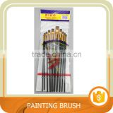 10pc Art Nylon brush, Oil Painting brush with Nickel-plated brass Ferrule. Trade assurance.