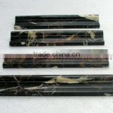 NEW BLACK AND GOLD ( MICHAEL ANGELO) MARBLE CHAIR RAIL MOLDING