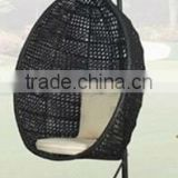 2017 Trade Assurance hot sale Outdoor pe rattan resin wicker swing egg chair lounge furniture