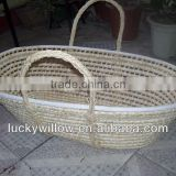 corn husk mose basket practical baby basket factory supply