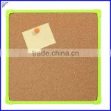 Wholesale cork board with plastic frame,cheap cork board squares