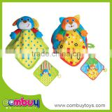 Baby funny cartoon animal slobber towel lovely bear plush toy