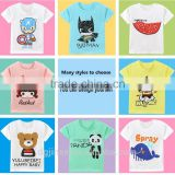 The summer baby wholesale cotton kids t shirt children customed cartoon printed short sleeve T-shirt