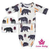 Stylish little girls&boys printed cartoon animal and baby cute hat punjabi designer suits