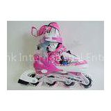 EVA Insole Stitched Inline Ice Skates with ABEC-7 Bearing , Pink Ice Skates for Girls