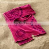 Factory made 100% cotton velour printing weighted design jacquard bath towel weighted CUSTOM size beach towel