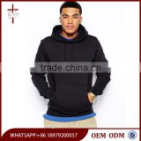 Custom Hoodies Autumn Gym Wear 2016 Mens Black Pullover Hoodie