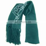 100% acrylic knitted printed scarf, knitted scarves