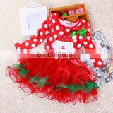 Christmas Baby Girl Party Dress Children Frocks Designs with Bow