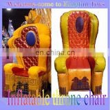 Party inflatable throne king chair for kids