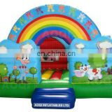 AOQI with free EN14960 certificate rainbow inflatable jumping bouncer for sale
