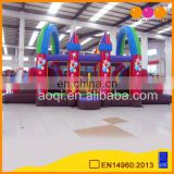 2016 newest design giant inflatable castle combo with slide for kids