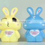 rabbit plastic coin bank/ cash box/ money box