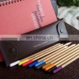 2011 design leather pencil case,pencil bag,school pencil case