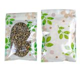 Three Side Seal Zipper Pouch With Clear Oval Window Flat Candy Packaging Bags