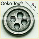 10mm 15mm hot sale 4 holes metal button for men's coats